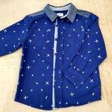 Продам новую, фирменную F&F, стильную, модную рубашечку в черепки 3-4 г.