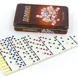 Настольная игра домино в металлической коробке 3974