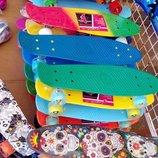 Скейтборд Penny board с алюминиевой подвеской. Свет