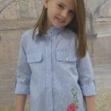 Детская рубашка надевочку с вышивкой