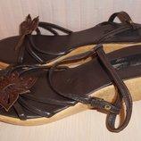Босоножки, сандалии на танкетке Saphire р-р 5 38 , кожа, Франция