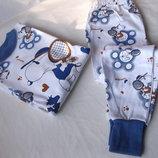 Удобные пижамки с гульфиком.