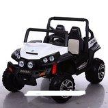 Детский электромобиль джип внедорожник M 3454 EBLR с 4-мя моторами и кожаным сиденьем, 2 расцветки.