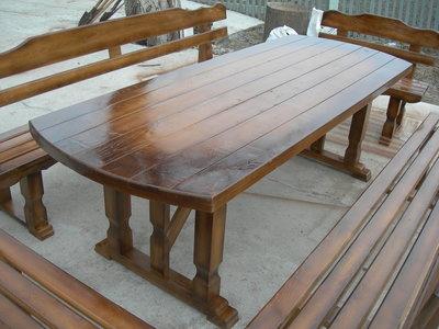 Садовые комплекты столы скамейки из сосны из дуба из ясеня
