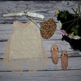 6 лет 116 см Маечка блузка блуза для модниц кружево разлетайка Америка
