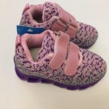 Кроссовки фиолетовые микрофибра для девочки