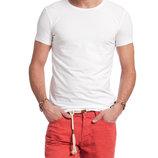 белая мужская футболка LC Waikiki / Лс Вайкики с круглой горловиной