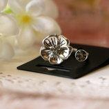 Кольцо Цветок Pilgrim Дания элитная ювелирная бижутерия ручной работы