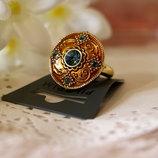 Кольцо в восточном стиле Pilgrim Дания элитная ювелирная бижутерия ручной работы