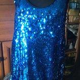 Новое шикарное вечернее платье на S-M