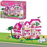 Конструктор Sluban Розовая мечта Большой загородный дом