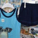 комплекты шорты футболки майки рост 92-128 хлопоок Smil