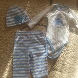 костюм, костюмчик,набор боди,боді,бодік,шапочка,шапка,штани,штанишки,штаны,штанішки .0-3міс.Gerber
