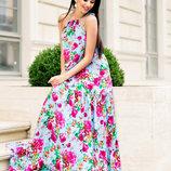 Стильное Молодежное Платье В Пол Цветы