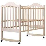 Дина детская кроватка на колесах с качалкой