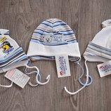 Детская весенняя шапка шапочка на новорожденного мальчика фирмы Klimani