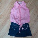 Красива блузочка для маленької модниці H&M 2-3р.
