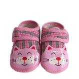 Пинетки-Тапочки Котик для девочки.