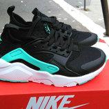 Кроссовки женские Nike Huarache Black turquoise
