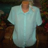 Bm новая с биркой блузка р 16 безумно-красивый цвет лагуна