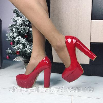 40b0191dd Красные туфли на широком каблуке: 550 грн - женские классические ...