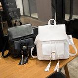 Нежный городской рюкзак с кисточками В Наличии