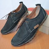 Летние туфли из натуральной кожи