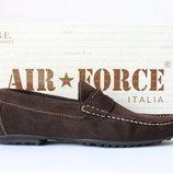 Шкіряні замшеві мокасини Air Force, Італія-Оригінал