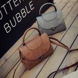 Модная сумка сундук с круглой ручкой В наличии