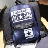 Большой джинсовый рюкзак унисекс Vans, Converse В Наличии