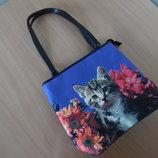 сумка новая кошка яркая камни фирменная девочке детская