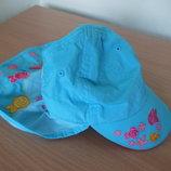 Кепка для плавания 1-3 года рост 86-98 см H&M НМ детская голубая рыбки лето море бассейн оригинал