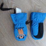 варешки краги 1 год перчатки синие теплые на флиссе новые коала