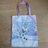 сумка новая детскаяновая на тетрадки на гурток анна эльза Disney Дисней