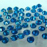 Стразы DMC Премиум термо клеевые Capri Blue ss20 4,8-5мм горячей фиксации hot fix