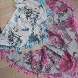 Шарф шаль платок женский разноцветный новый без бирки