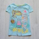 Нежная футболка для девочки. F&F. Размер 3-4 года. Состояние новой вещи, не ношенная сток