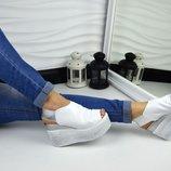 Хит Женские босоножки платформа натуральная кожа