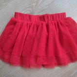 Юбка девочке 12-18 мес Marks&Spencer Маркс и Спенсер для танцев сеточка красная