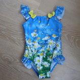 купальник девочке 1,5-2 г 86-92 см TU ТиЮ оригинал фирменный ромашки цветы лето море бассейн