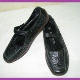 Туфли балетки 100% натуральная кожа~brevitt~сша р 37 новые