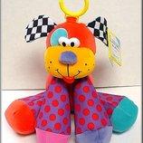 Развивающая, музыкальная игрушка-подвеска Щенок Lamaze с ароматом ванили