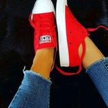 Акция Converse All Star Вьетнам Топ-Качество красные кеды конверс конверсы 36р-40р