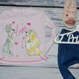 Обалденная фирменная кофточка реглан девочке 12 - 18 месяцев 86 см Дисней Disney