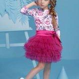 Детский нарядный костюм для девочки с пышной юбкой