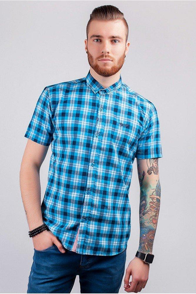 мужская летняя рубашка с коротким рукавом