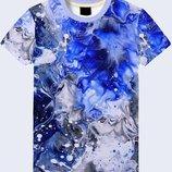Красочная 3D футболка Цветная вода