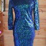 Платье-Хамелеон От H&M Двухцветные Паетки