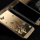 Переднее Заднее золоте стекло Бабочка для iphone 6/6S