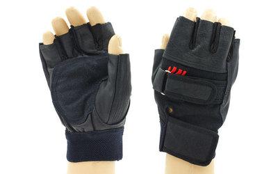 Перчатки спортивные многоцелевые перчатки атлетические BC 109 кожзам, размер L